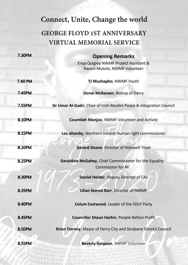 GF Online Memorial Service Schedule Of Speakers